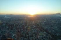 台北101からの夕焼け