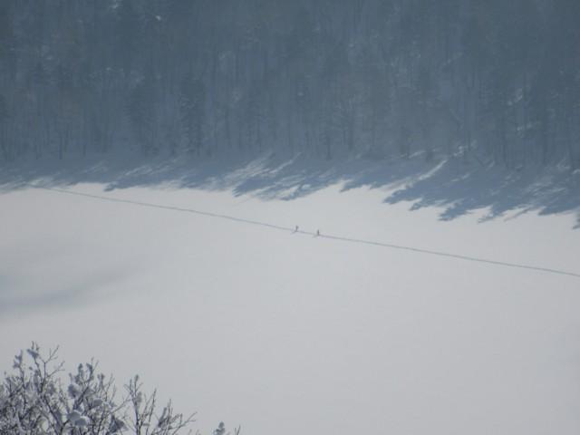 1月8日 オコタンペ湖横断中