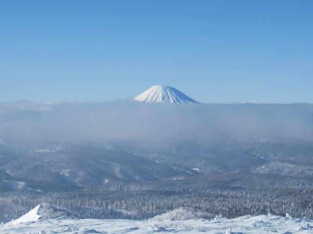 1月8日 羊蹄山の頭