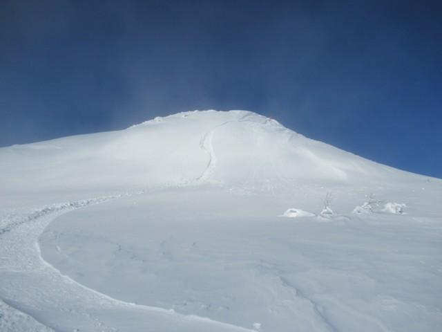 1月8日 山頂からドロップ