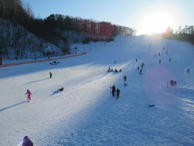 1月8日 地元の市民スキー場