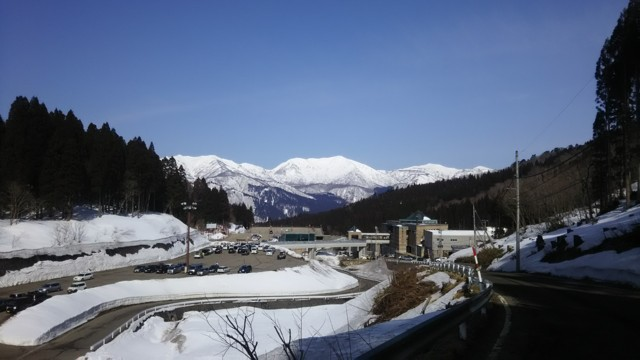 3月25日 正面が野伏ヶ岳