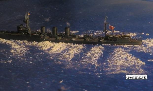 重雷装巡洋艦大井よこから魚雷発射