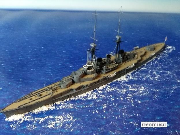 巡洋戦艦金剛1914左上方から