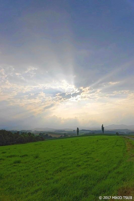 絶景探しの旅 - 0316 薄明光線に包まれる新栄の丘(北海道 美瑛町)