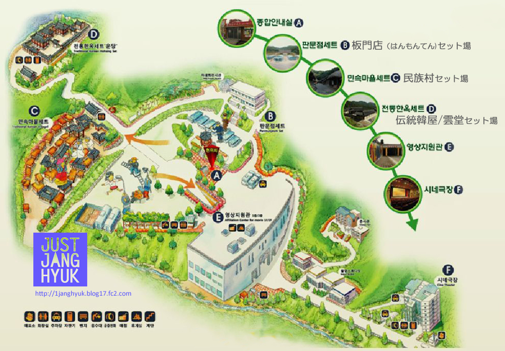 南楊州総合撮影所 案内図