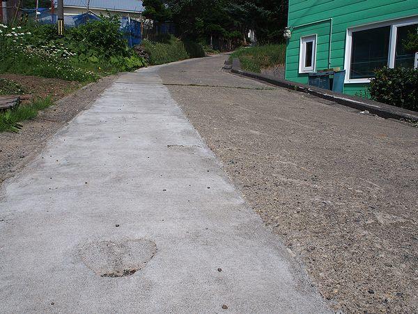 ハート柄の坂道