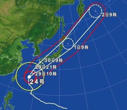 台風24号 H30.9.29