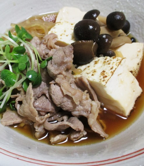 豚こま焼き豆腐 B