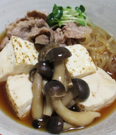 豚こま焼き豆腐 拡大