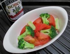 トマトとブロッコリーのオイマヨチーズ 調理③