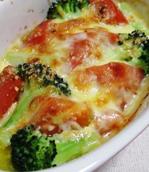 トマトとブロッコリーのオイマヨチーズ 拡大