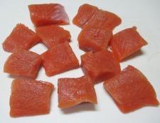 秋鮭の竜田揚げ 調理①