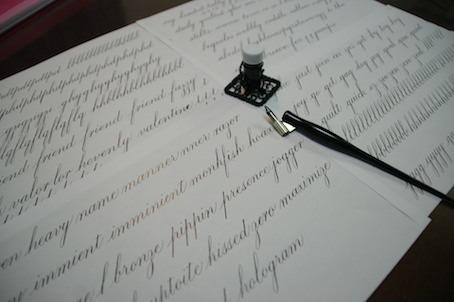 170908カッパープレート小文字練習