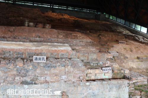 0268:九谷焼窯跡展示館 シェルター内部②