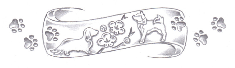 愛犬デザイン画2