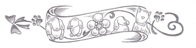 愛犬デザイン画