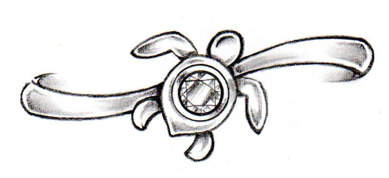 ウミガメエンゲージデザイン