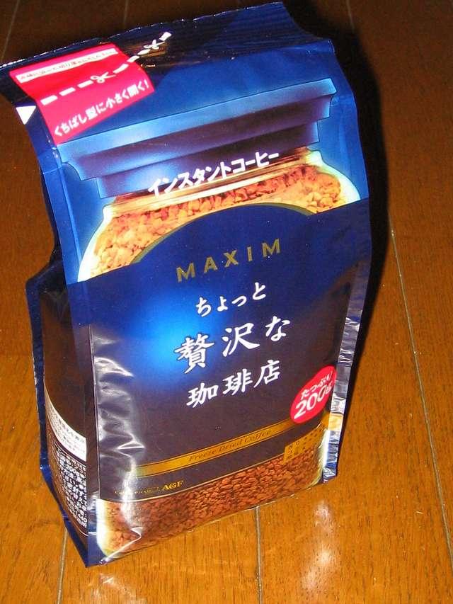 AGF マキシム インスタントコーヒー ちょっと贅沢な珈琲店 200g  2014年10月購入