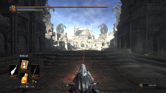 PC 版 ダークソウル3 DARK SOULS 3 ReShade Incandescent Reshade - Performance Lite 版 v1.5、篝火 古竜の頂 無名の王