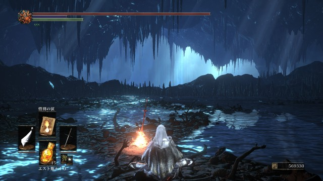 PC 版 ダークソウル3 DARK SOULS 3 ReShade Incandescent Reshade - Performance Lite 版 v1.5、篝火 輪の都 闇喰らいのミディール