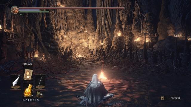 PC 版 ダークソウル3 DARK SOULS 3 ReShade なし(グラフィック変更 Mod なし、バニラ状態)、篝火 不死街 亡者の穴倉