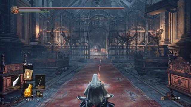 PC 版 ダークソウル3 DARK SOULS 3 ReShade なし(グラフィック変更 Mod なし、バニラ状態)、篝火 深みの聖堂 ロザリアの寝室