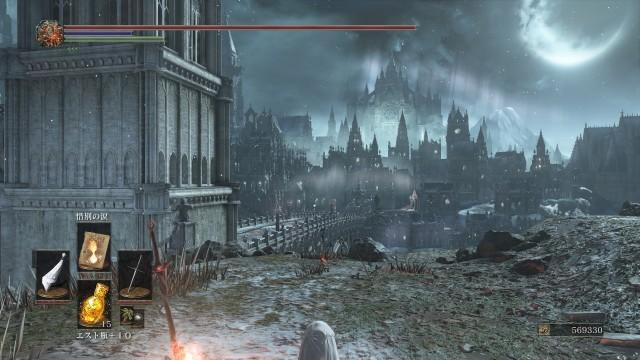 PC 版 ダークソウル3 DARK SOULS 3 ReShade なし(グラフィック変更 Mod なし、バニラ状態)、篝火 冷たい谷のイルシール 冷たい谷のイルシール