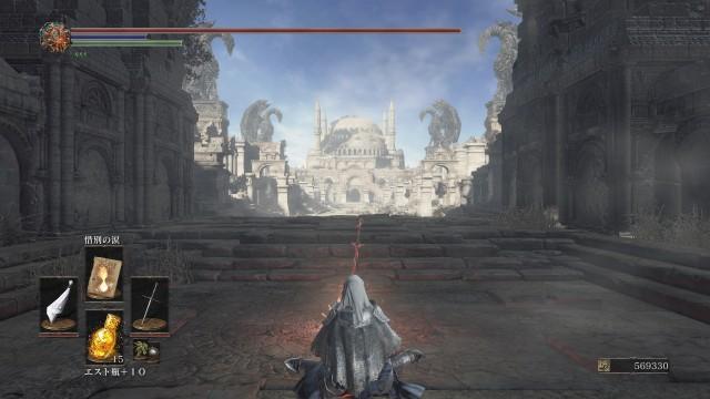 PC 版 ダークソウル3 DARK SOULS 3 ReShade なし(グラフィック変更 Mod なし、バニラ状態)、篝火 古竜の頂 無名の王
