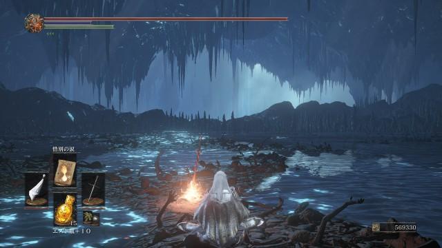 PC 版 ダークソウル3 DARK SOULS 3 ReShade なし(グラフィック変更 Mod なし、バニラ状態)、篝火 輪の都 闇喰らいのミディール