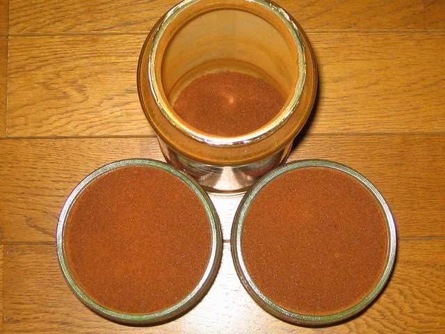 クライス カフェ ジャパン エクスプレスコーヒー 250g をル・パルフェ 保存ビン ダブルキャップジャー 500cc に保管