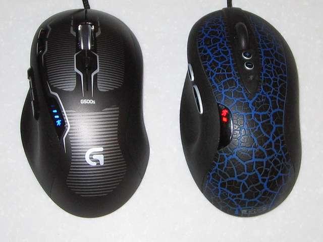 ロジクール G500s レーザーゲーミングマウスとロジクール G5 レーザーゲーミングマウス と G5(G-5T) レーザーマウス 比較