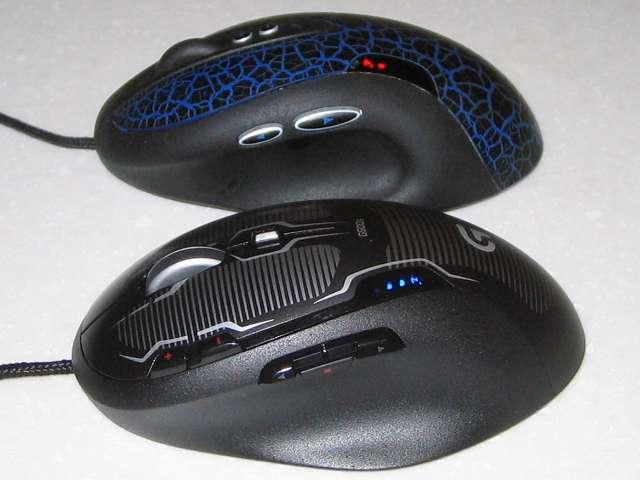 ロジクール G500s レーザーゲーミングマウスとロジクール G5 レーザーゲーミングマウス と G5(G-5T) レーザーマウス 比較 サイドボタン部分