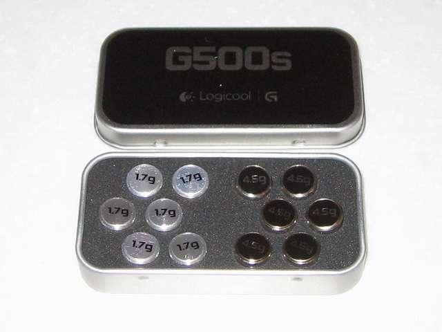 ロジクール G500s レーザーゲーミングマウス 付属品 ウェイト(おもり)収納ケースとウェイト(おもり)