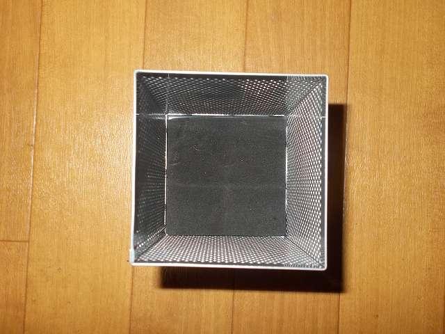 ナカバヤシ パンチングメタル ペンスタンド 角型 シルバーメタリック PS-K1SM 内部 ペン先保護パッド付き