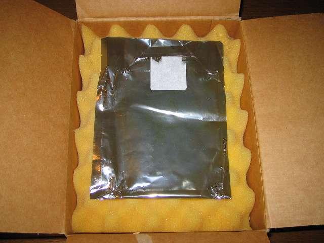 Seagate ハードディスク RMA 梱包箱 以前 Seagate HDD を RMA 申請をした時の交換品 HDD が入っていた静電防止袋、再利用のためそのまま流用