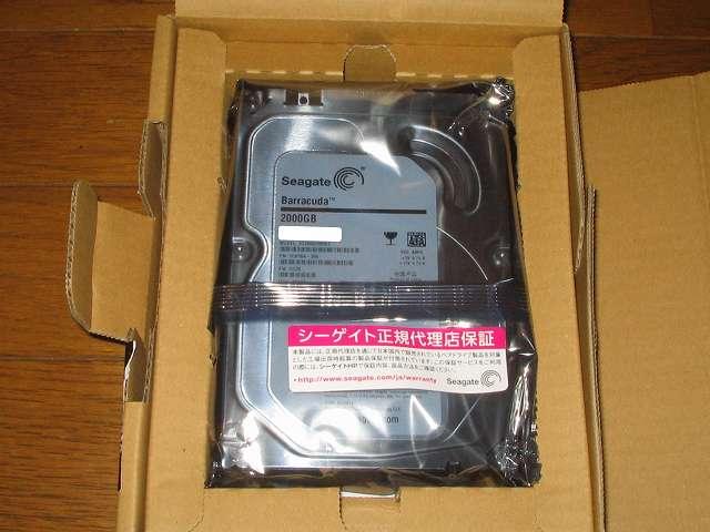 健康状態が怪しくなってしまった HDD を交換するために保証期間 3年の Seagate ST2000DM001/EWN を購入してみました
