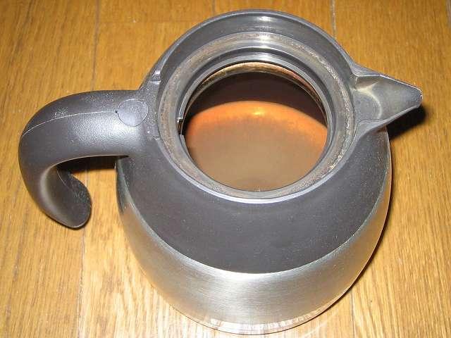 タイガー コーヒーメーカー 真空ステンレスサーバータイプ 8 杯用 ACW-S080-KQ 真空ステンレスコーヒーサーバー内部のコーヒー汚れ・こびりつき