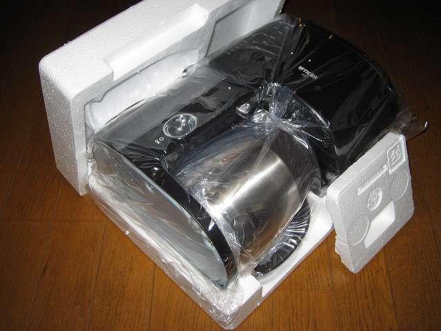 TIGER コーヒーメーカー 真空ステンレスサーバータイプ カフェブラック 8杯用 ACW-S080-KQ コーヒーメーカー本体緩衝材(発泡スチロール)取り外し