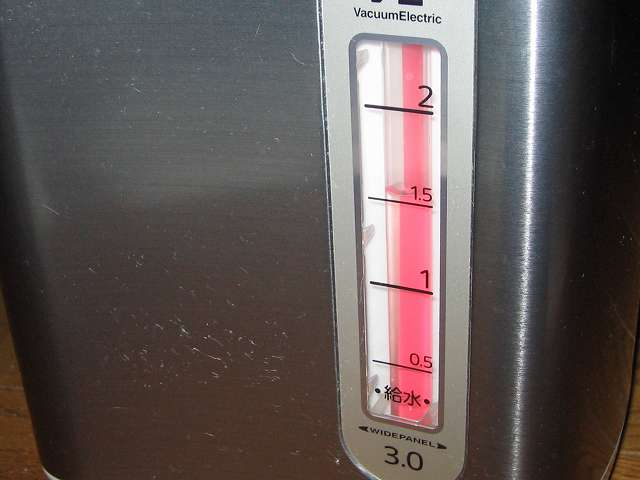 タイガー 電気まほうびん とく子さん 3L PVW-A300 約半量になるまで電動給湯してお湯を捨てる