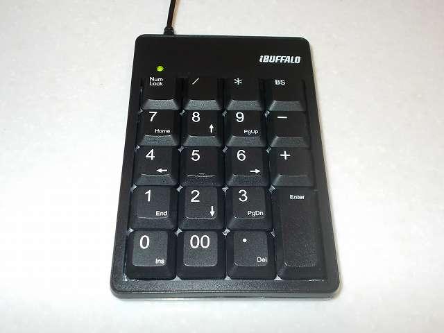 iBUFFALO テンキーボード USB接続 19mmピッチ ブラック BSTK02BK メンテナンス完了