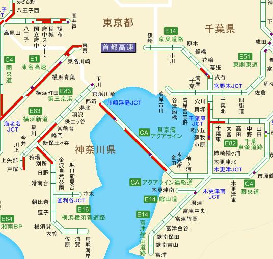 アクアライン渋滞回避や結局東関東自動車道も渋滞する