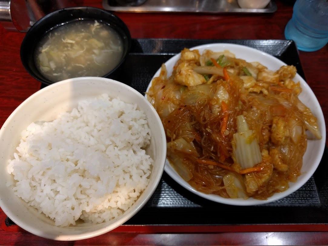 大岡山四川屋台-鶏白菜春雨うま辛煮