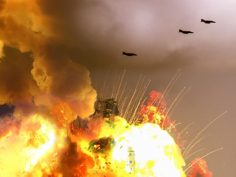 ミサイル基地空爆イメージ