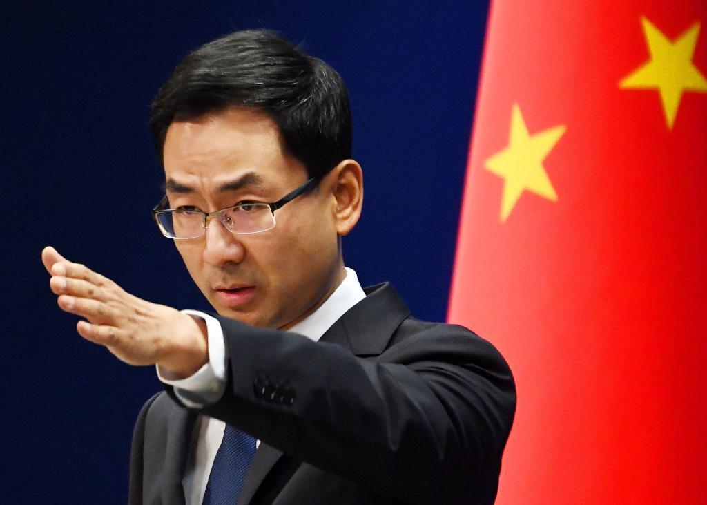 中国外務省の耿爽副報道局長