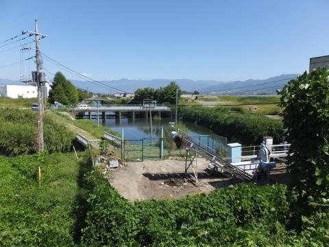 渋川の排水施設
