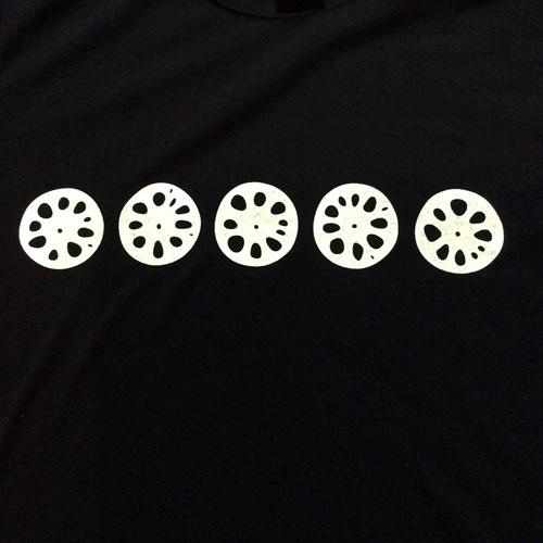 レンコンTシャツ ブラック フロントアップ