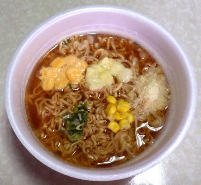 8/14発売 チキンラーメンどんぶり トリプルチーズ(できあがり)