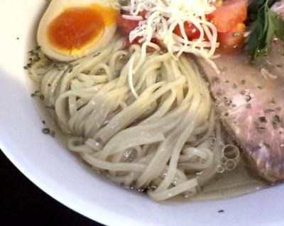 JUNK STORY 冷し塩ラーメン Last Drop ~一滴の影響~(麺のアップ)