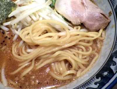 麺屋 黒船 藤井寺店 味噌麺(麺のアップ)